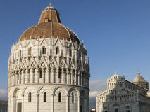 The Pisa Baptistery of St. John in Pisa, Tuscany Italy. The Pisa Baptistery of St. John is a Roman Catholic ecclesiastical building in Pisa, Italy Royalty Free Stock Photo