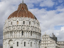 The Pisa Baptistery of St. John, Tuscany Italy. The Pisa Baptistery of St. John is a Roman Catholic ecclesiastical building in Pisa, Italy Royalty Free Stock Images