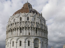 The Pisa Baptistery of St. John, Tuscany Italy. The Pisa Baptistery of St. John is a Roman Catholic ecclesiastical building in Pisa, Italy Royalty Free Stock Photography