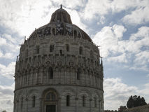 The Pisa Baptistery of St. John, Tuscany Italy. The Pisa Baptistery of St. John is a Roman Catholic ecclesiastical building in Pisa, Italy Stock Photography