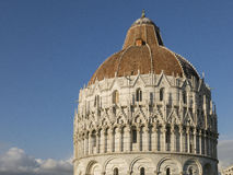 The Pisa Baptistery of St. John, Tuscany Italy. The Pisa Baptistery of St. John is a Roman Catholic ecclesiastical building in Pisa, Italy Royalty Free Stock Photos