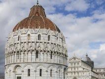 Pisa Baptistery St John, Tuscany Włochy Obrazy Royalty Free