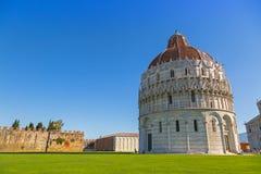 Pisa Baptistery StJohn, Battistero Di San Giovanni, rzymianin Ca Zdjęcie Stock