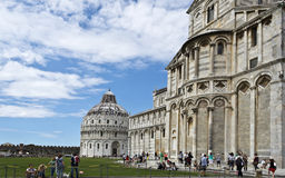 Pisa Baptistry and Cathedral Stock Image