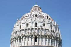Pisa Baptistry Dome Stock Photos