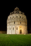Pisa baptistry in night Stock Photos