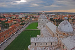 Pisa Baptistry of St John and Cathedral with the surrounding area in Pisa Tuscany Italy Stock Image