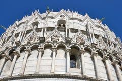 Pisa baptysterium, Tuscany, Włochy zdjęcie royalty free