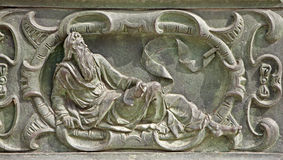 Pisa -  Bronze relief of prophet from cathedral gate Stock Image