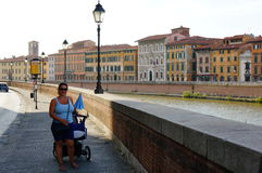 Pisa canal Stock Images