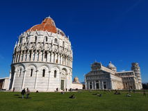 Pisa Cathdral, Italy. Famous italian landmark, photo was taken in February Royalty Free Stock Image