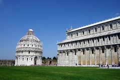 Pisa Cathedral and Baptistery,  Italy Royalty Free Stock Image