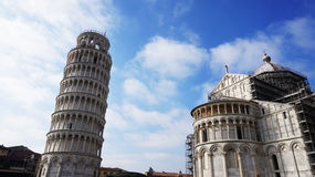 Pisa Cathedral Duomo di Pisa with the Leaning Tower of Pisa on Piazza dei Miracoli in Pisa, Tuscany, Italy Royalty Free Stock Photography