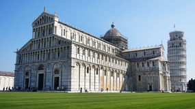 Pisa Cathedral Duomo di Pisa with the Leaning Tower of Pisa on Piazza dei Miracoli in Pisa, Tuscany, Italy Royalty Free Stock Photos