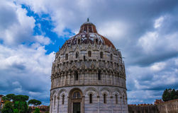 Pisa Cathedral Duomo di Pisa with the Leaning Tower of Pisa on Piazza dei Miracoli in Pisa Royalty Free Stock Photos