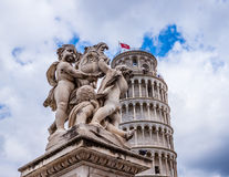 Pisa Cathedral Duomo di Pisa with the Leaning Tower of Pisa on Piazza dei Miracoli in Pisa Royalty Free Stock Image