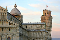Pisa Cathedral,Italy. Pisa Cathedral with Baptistery, Campanile and Campo Santo, together form one of the most famous building groups in the world. It resembles Royalty Free Stock Image