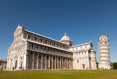 Pisa Cathedral and the leaning tower Royalty Free Stock Photos