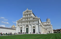 Pisa Cathedral, Leaning Tower and Camposanto Monumentale Stock Photos