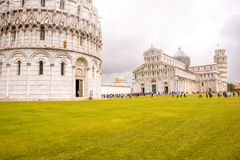 Pisa cathedral with leaning tower in Italy Royalty Free Stock Photography