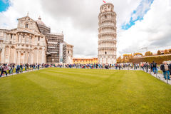 Pisa cathedral with leaning tower in Italy Royalty Free Stock Images