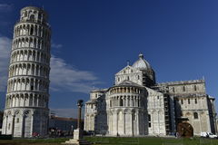 Pisa Cathedral and Leaning Tower, Italy Stock Image