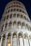 Pisa Cathedral. Leaning Tower of Pisa. Night view royalty free stock images
