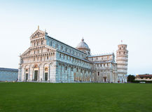 Pisa Cathedral and the Leaning Tower of Pisa Stock Images