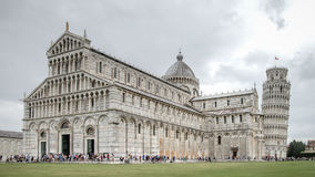 Pisa cathedral and leaning Tower of Pisa in Pisa, Italy Stock Image
