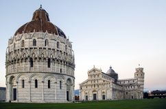 Pisa cathedral and leaning tower Stock Image