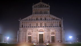 Pisa Cathedral By Night stock footage