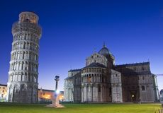Pisa - Cathedral Square. The Piazza del Duomo is a wide, walled area at the heart of the city of Pisa, Tuscany, Italy. Partly paved and partly grassed, it is Stock Photo
