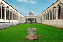 Pisa cemetery. The inner court of Campo Santo in Cathedral Square in Pisa, Italy Stock Photography