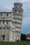 Pisa 3. The church and buildings at the famous leaning tower of Pisa Royalty Free Stock Image
