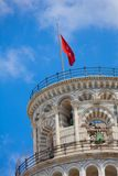 Pisa city flag on tower Royalty Free Stock Images