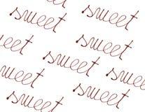 pisać czekoladowy cukierki Obrazy Stock