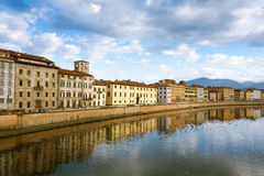 Pisa day view, Tuscany, Italy Royalty Free Stock Photos