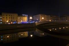Pisa, der Arno Stockbild
