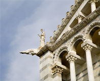Pisa - detail of cathedral facade Stock Images