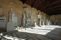 Pisa, detalhe do cemitério monumental Fotografia de Stock Royalty Free
