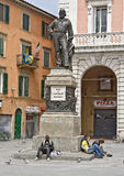 Pisa, die Statue von Garibaldi, Pisa-Kathedrale Stockbilder