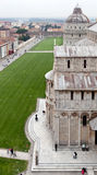 Pisa Dome Square And Cathedral Top View Stock Images