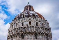 Pisa Duomo Katedralni di Pisa z Oparty wierza Pisa na piazza dei Miracoli w Pisa Fotografia Stock
