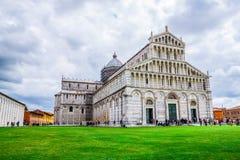 Pisa Duomo Katedralni di Pisa z Oparty wierza Pisa na piazza dei Miracoli w Pisa Obrazy Stock