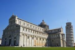 Pisa Duomo Katedralni di Pisa z Oparty wierza Pisa na piazza dei Miracoli w Pisa, Tuscany, Włochy Fotografia Stock