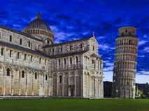 Pisa Duomo Tower Rise Stock Images