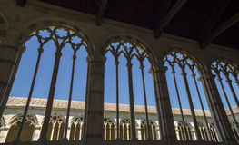 Pisa - gothic windows in  the monumental cemetery. Royalty Free Stock Images