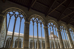 Pisa - gothic windows in  the monumental cemetery. Royalty Free Stock Image