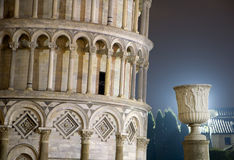 Pisa - hanging tower in the night Stock Photography