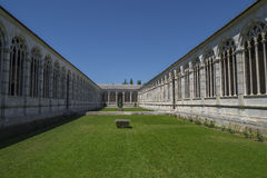 Pisa - inner courtyard of  the monumental cemetery. Stock Photo